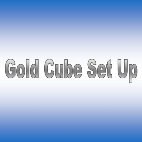 Gold Cube Set Up 3