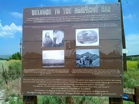Arapaho recreational gold panning park
